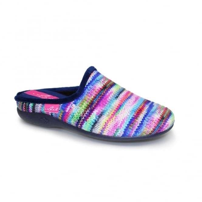 sherbet stripe lunar slippers
